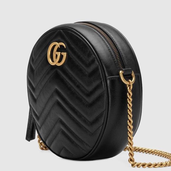 f4ccf2b35479 Gucci Bags | Gg Marmont Mini Round Shoulder Bag | Poshmark
